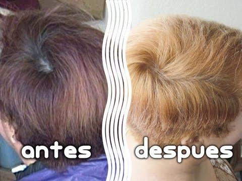 Como hacer una limpieza de color en el cabello (shampoo decolorante)