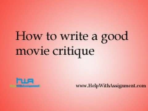 Movie Critique Essay