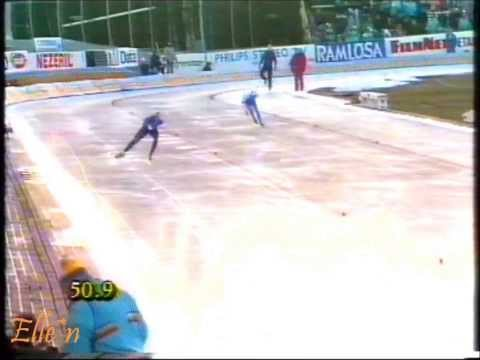 European Championships Allround Göteborg 1989 – 1500 m Zinke – Monti
