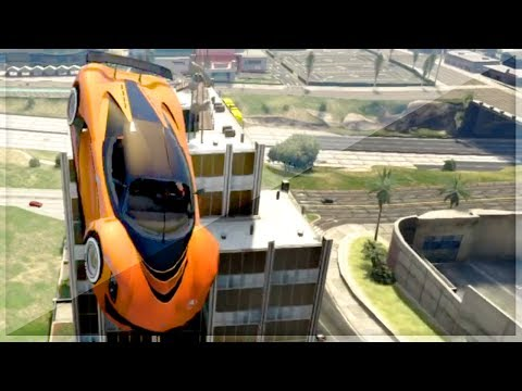GTA 5 STUNTS - HIT A STUNT - INSANE GTA 5 FLYING Cars (