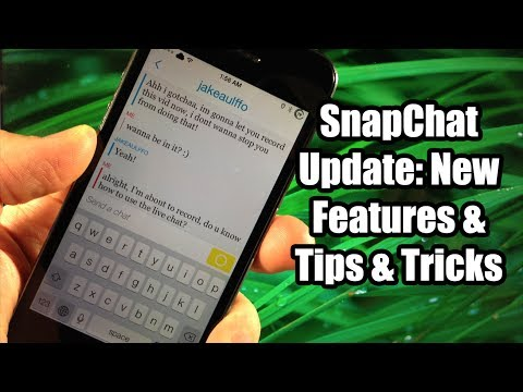 New SnapChat 7.0 Features & How to save Pictures & Video to Camera Roll