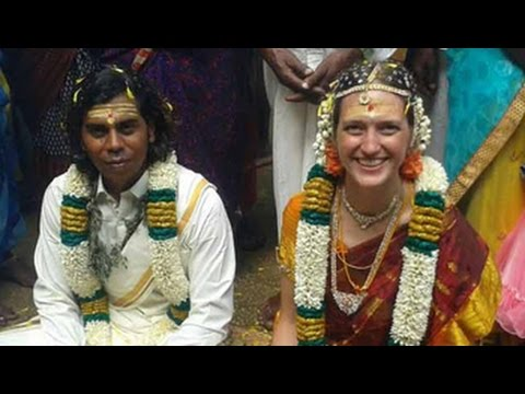 Suresh and Sarah, just married, but being forced apart