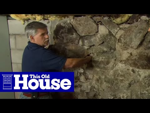 How to repoint a stone foundation this old house youtube for Old house foundation types