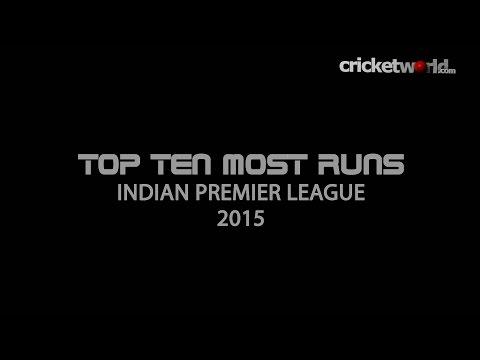 Top 10 highest run-scorers in the Indian Premier League 2015 - Cricket World TV