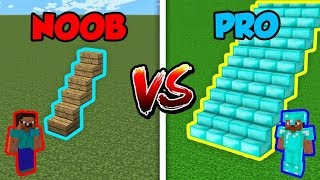 Minecraft NOOB vs. PRO: STAIRCASE in Minecraft!
