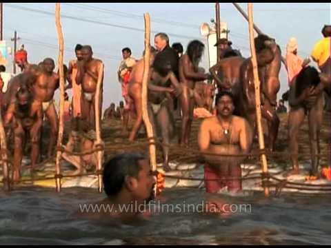 Millions of Sadhus take plunge in the holy Ganges - Kumbh Mela