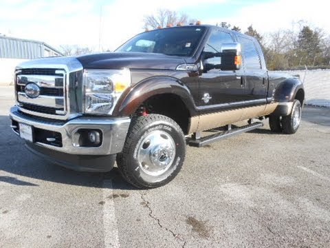 SOLD!!! 2013 FORD F-350 CREWCAB LARIAT DUALLY 4X4 KODIAK BROWN 6.7 FORD OF MURFREESBORO 888-439-1265