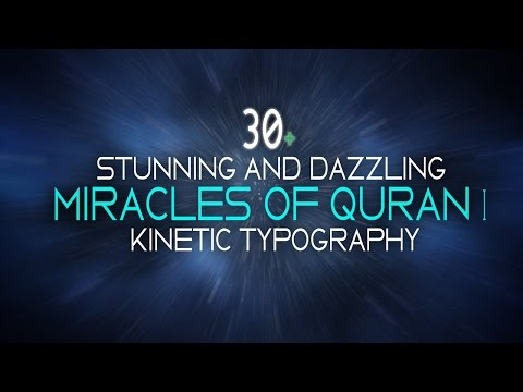 30+ Stunning Dazzling Miracles of The Holy Quran | Kinetic Typography