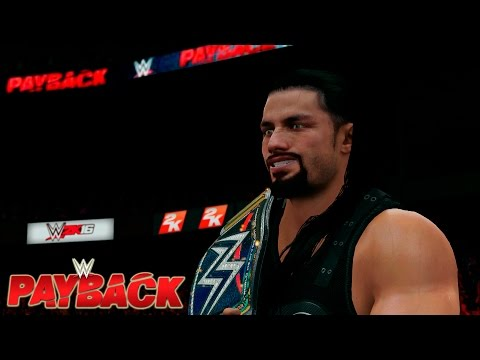 WWE 2K16 Payback 2016 - Roman Reigns  vs.  AJ Styles