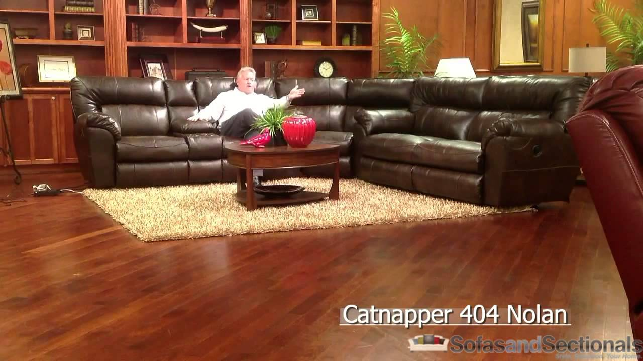 Catnapper Nolan Sectional Sofa In Bonded Leather Youtube