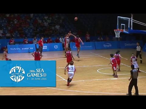 Basketball Women's Singapore vs Indonesia | 28th SEA Games Singapore 2015