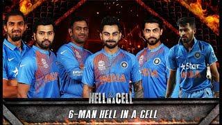 Virat Kohli VS M.S Dhoni VS Hardik Pandya VS Jadeja VS Rohit VS Ishant Sharma - Hell in A Cell Match
