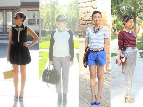Spring Summer Fashion Trends 2013 and Style Lookbook - Black and White, Striped Prints