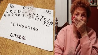 HOMEMADE OUIJA BOARD! WE CONTACTED MY GRANDPA...