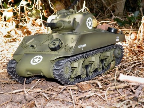 Sherman M4A3 Tank. Waltersons Heng Long 1/16th RC tank review