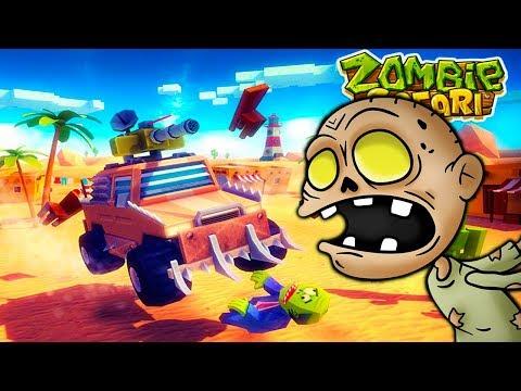 Безумные тачки против Зомби уничтожаем и сбиваем зомби в веселом видео для детей про машины