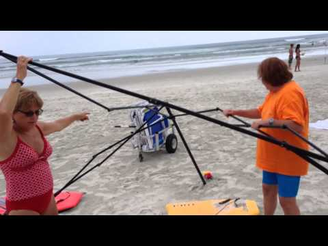 Busted! Two Women Caught Stealing A Canopy On The Beach, Then Attack! video