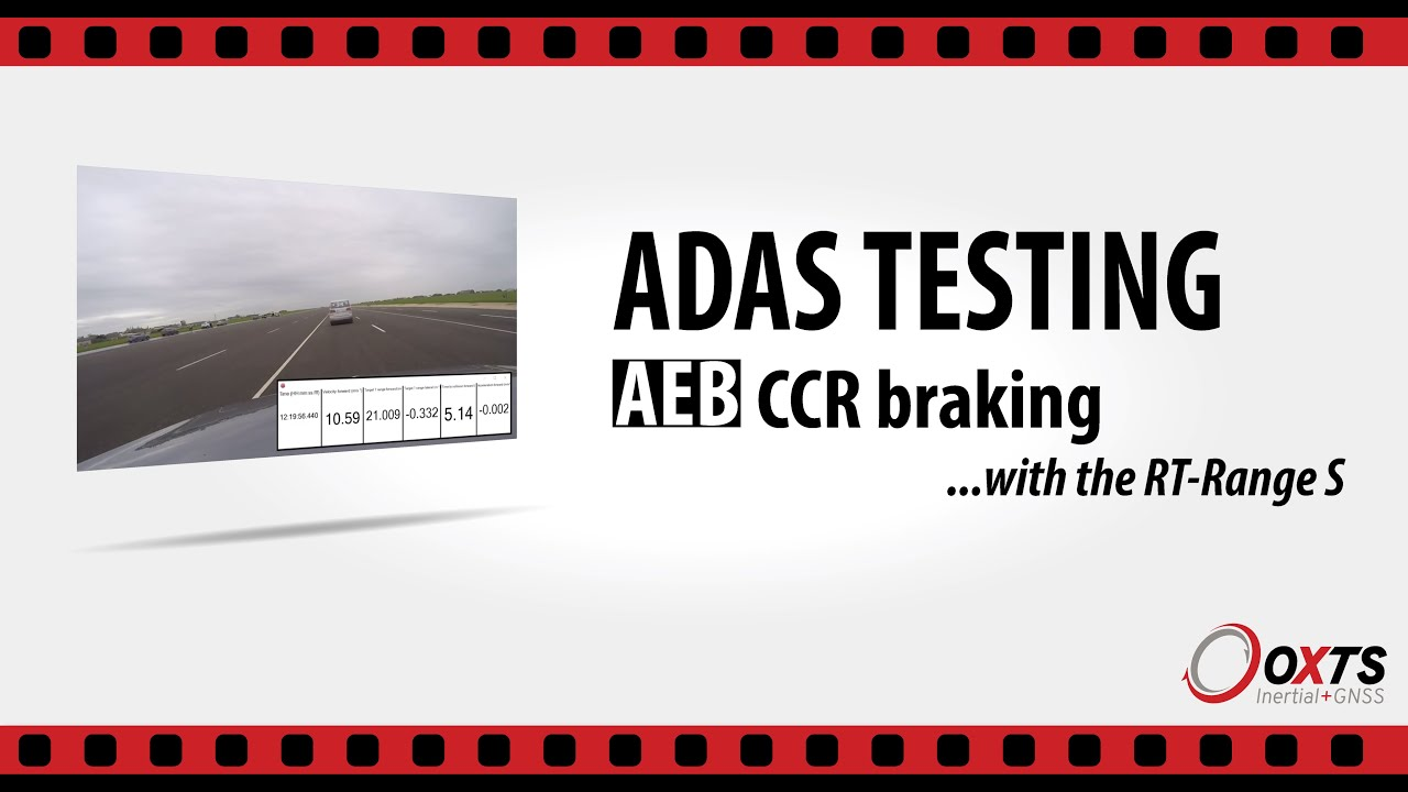 RT-Range システム Euro NCAP test protocol AEB Car-to-Car Rear Braking (CCRb)