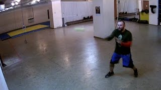 Solo training: when a knife fighter gets bored