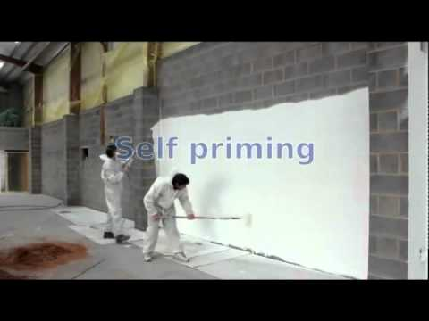 painting block walls in one pass with a single coat of paint youtube. Black Bedroom Furniture Sets. Home Design Ideas