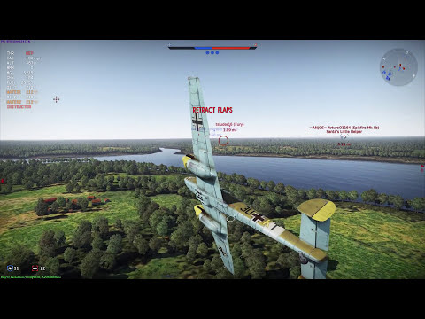 War Thunder - Bf 110 is best applied directly to the forehead...