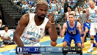 NCAA COLLEGE HOOPS 2K19! (Unc vs Duke) March Madness Mod