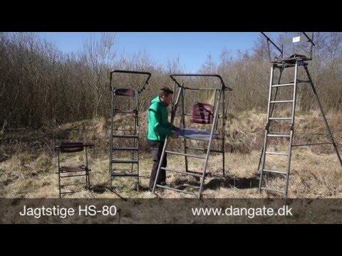 Jagtstiger guide fritstående aluminium skydestiger