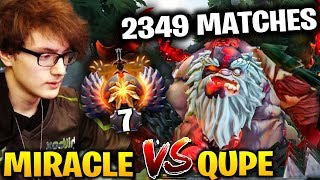 MIRACLE vs QUPE 2349 Matches Played Pudge Dota 2