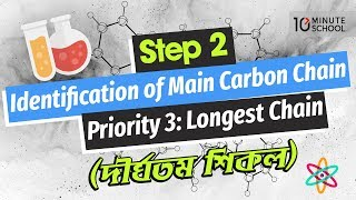 05. Step 2: Identification of Main Carbon Chain – Priority 3: Longest Chain (দীর্ঘতম শিকল)