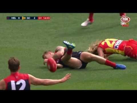 Matt Shaw gets reported - AFL