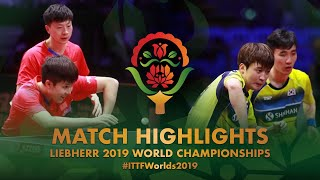 Ma Long/Wang Chuqin vs Lee Sangsu/Jeoung Youngsik | 2019 World Championships Highlights (1/4)