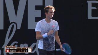Daniil Medvedev v Milos Raonic match highlights (QF)