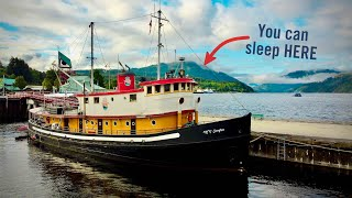 VINTAGE TUGBOAT converted to AirBnB - Boat Tour