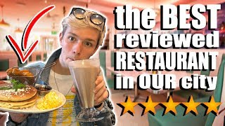 We ate at the BEST REVIEWED restaurant in OUR CITY!! *WE DIDN'T EXPECT THIS*