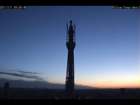 Quick timelapse video of Tokyo Sky Tree(R) as of 2011 Jan.