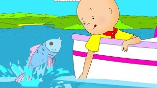 Funny Animated cartoons Kids 🦈 Caillou looks for Baby Shark 🦈 WATCH ONLINE | Cartoons for Children