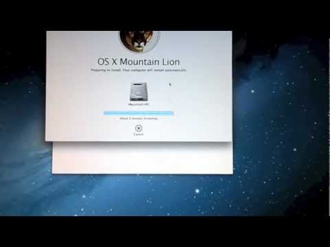 Installing OS X 10.8 Mountain Lion on Mac mini late 2009 2GB Ram Dual Core 2GHz