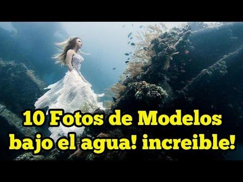 10 Fotos de Modelos bajo el agua! increible!