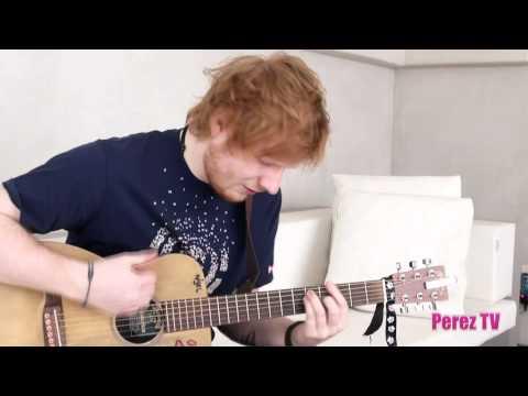 Ed sheeran kiss me acoustic performance for perez - Ed sheeran give me love live room ...