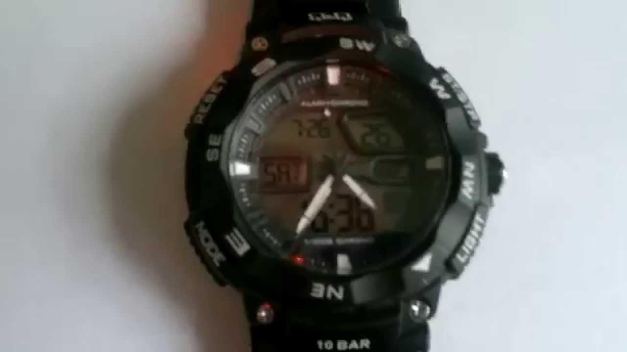 Часы q q dual time 1/100s chrono инструкция