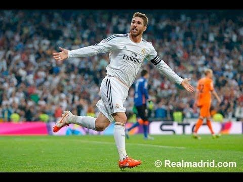 Sergio Ramos' goal against Valencia | La Liga 04/05/2014 (English Commentary)