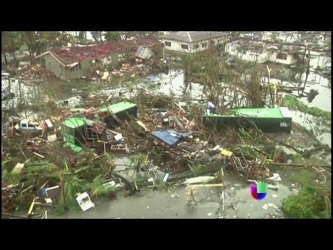 Comparan tifón de Filipinas con la furia de tsunami en 2004 -- Noticiero Univisión