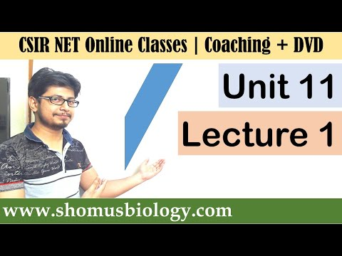 CSIR NET life science lectures | Unit 11 Lecture 1