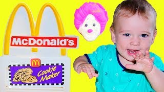 McDonald's Drive Thru Pretend Play Vintage COOKIE MAKER & Play Doh McDonald's Happy Meal