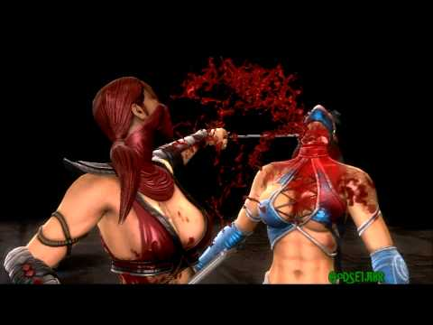 Skarlet  X-Ray,Fatalities 1,2,Stage Fatality,Babality Mortal Kombat 9 PS3 PT-BR (HD)