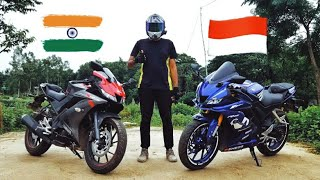 Yamaha R15 V3 India vs Yamaha R15 V3 Indonesia | ABS test | Detailed Comparison || The Outsider