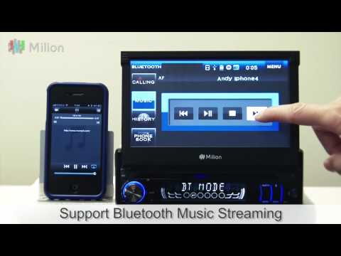 Milion D1309B 7 Inch Digital Detachable Ultra-thin Touch Screen 1 Din Car DVD GPS