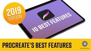 Procreate's 10 Best Features - 2019 (draw lines and shapes, paint bucket tool, gradients and more)
