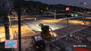 [GRAND THEFT AUTO 5 - TROLL THE POLICE] - How to fuck the police in Los Santos!