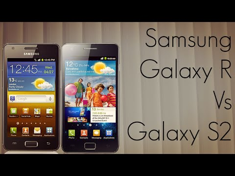 Samsung Galaxy R vs Galaxy S2 Phone Comparison I9103 Vs I9100 Music Videos